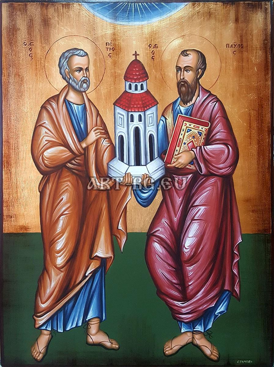 Рисувана икона Св. Петър и Св. Павел